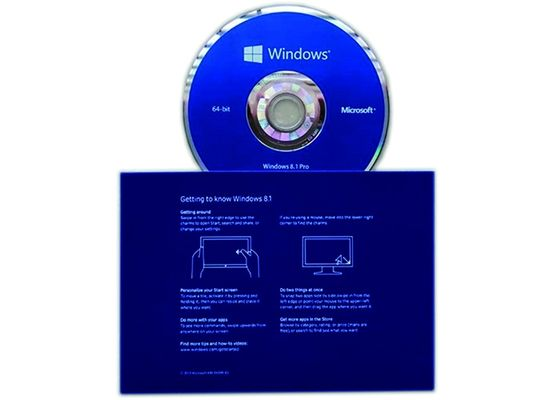China Genuine Windows 8.1 Pro Pack 64bit Operating Systems Full Version Software supplier