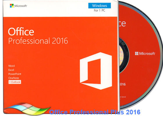 China Original Office 2016 Professional FPP , Microsoft Office Professional Plus 2016 DVD supplier