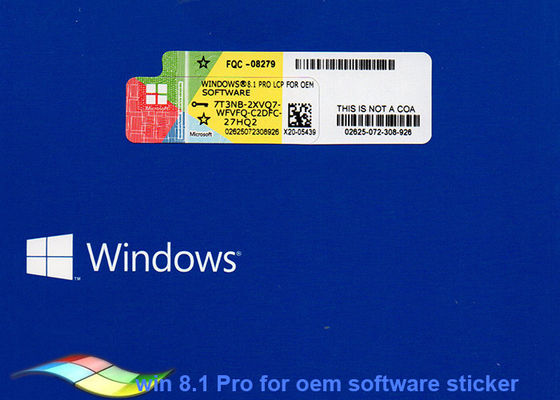 China Genuine Microsoft Windows 8.1 Operating System For COA Sticker supplier