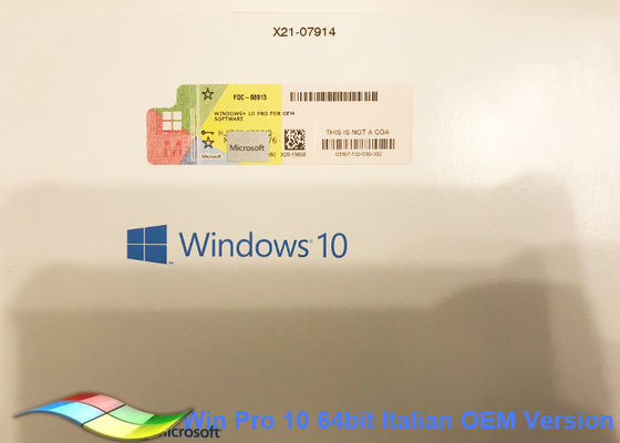 China Full Version Windows 10 Pro OEM Sticker 32bit Systems Genuine Activate supplier