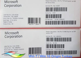 China Laptop Original Windows 7 64 Bit Product Key / Windows 7 Oem Dvd supplier