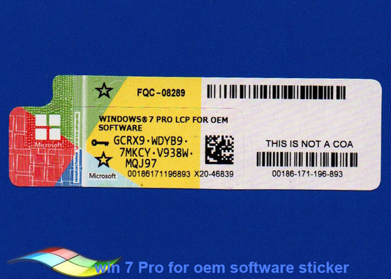 China Microsoft Windows 7 Professional Product Key 100% Original for PC supplier