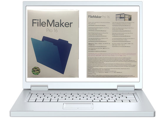 China MAC Multi Language FileMaker Pro 16 Genuine Retail Box Package supplier