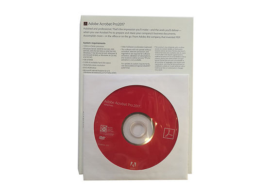 China Genuine Adobe Acrobat Pro 2017 Online Activate English Version Software For Windows supplier