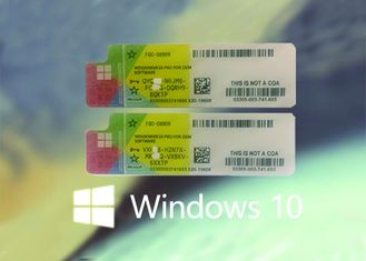 China Genuine Win 10 COA Sticker 100% Original Key From Microsoft  Online Activate supplier