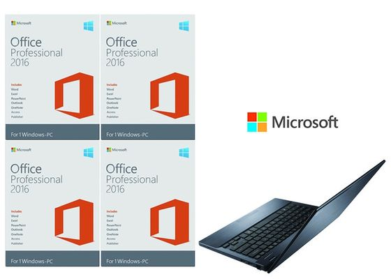 China Office 2016 Pro Fpp , Office 2016 Professional FPP 64 Bit Systems Online Activate For PC supplier
