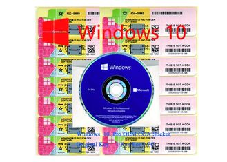 China 100% Authentic Win 10  pro coa Sticker Activated By Internet 64 bit / 32 bit supplier