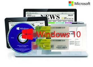 China Optional Language 64bit / 32bit OS 100% Genuine Windows 10 Pro COA Sticker Online Activation supplier