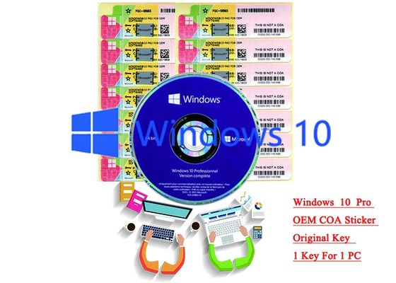 China 32/64 bit Windows 10 Product Key Sticker Win 10 Pro COA X20 Online Activate supplier