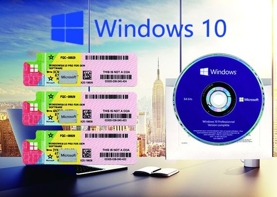 China Customizable FQC Win 10 Pro COA Sticker Full Version Online Activate supplier