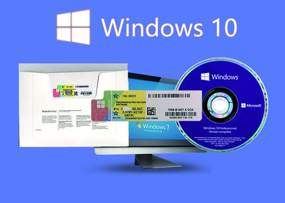 China 100% Genuine Win 10 Pro COA Sticker Multi Language Customizable FQC supplier