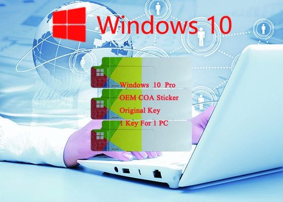 China 100% Original Win 10 Pro COA Sticker Online Activate Genuine Customizable FQC supplier