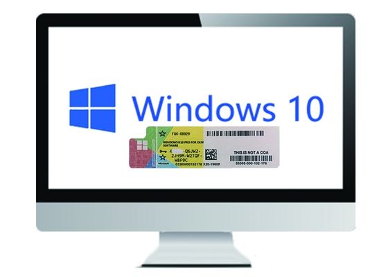 China Microsoft Windows 10 Pro License COA Sticker German Language 64bit supplier