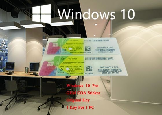China Microsoft Windows 10 Pro COA Sticker German Language 64bit Online Activation Label With License Key supplier