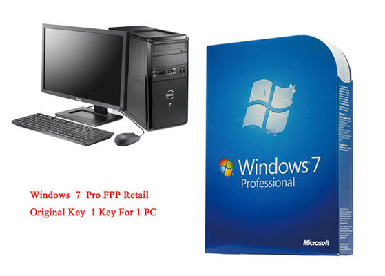 China MS Windows 7 Pro Pack Online Activate 64bit Systems Genuine FPP Retail supplier