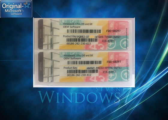 China Multi - Language Windows 7 Professional Product Key / Windows 7 Coa License Key supplier