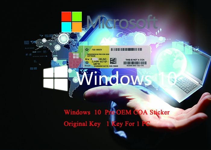 Win10 Pro OEM Key 64 Bit DVD oem pack / Win 10 Professional COA Key Genuine license Activation