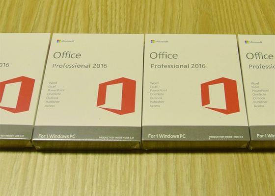 China Office 2016 Pro Fpp 64Bit Full Version Product Key Standard Retail Box factory