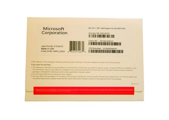 China 64 Bit Windows Seven Professional Product Key MS Certified For Work And Home factory
