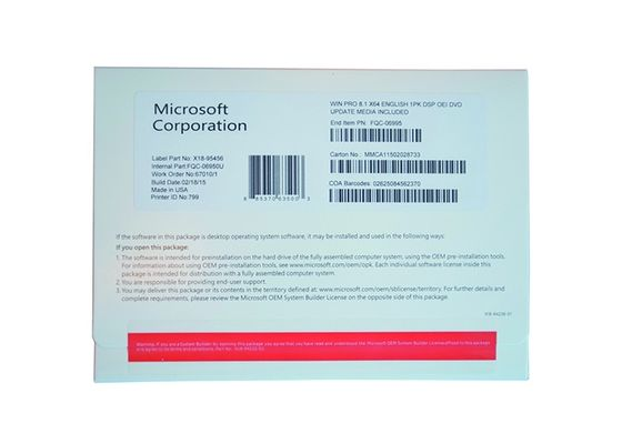 China Microsoft Windows 8.1 Pro Pack OEM Packge Software Online Activate factory