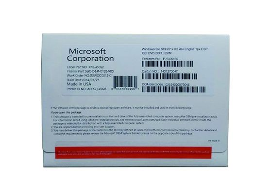 China 64bit Systems Microsoft Windows Server 2012 R2 Standard Edition Online Activate factory
