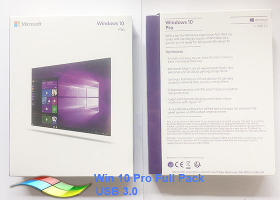 Global Language Windows 10 Pro Microsoft factory Sealed FPP Product Key USB3.0 Version Online Activation