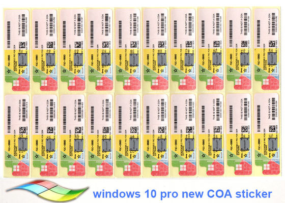 China PC Or Tablet  Windows 10 Pro COA Sticker 100% Original Customizable FQC factory