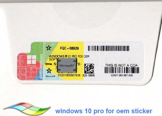 China Genuine Windows 10 Professional 64 Bit Systems Windows 10 Product Key Sticker factory