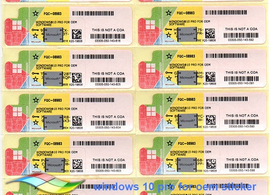 China 64bit Windows 10 Product Key Sticker Online Activate By Internet factory