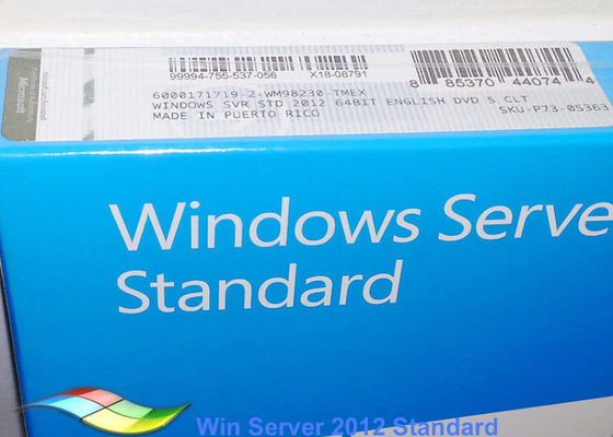 Full Version Windows Server 2012 FPP Standard Customizable FQC 64bit Systems DVD