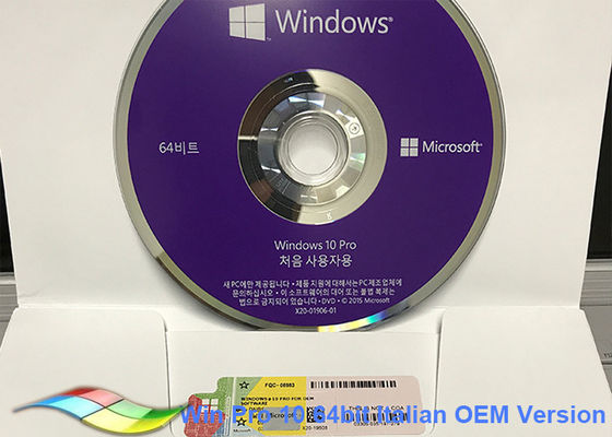 China Korea Windows 10 Pro OEM Sticker / Microsoft Windows Software MS Partner factory