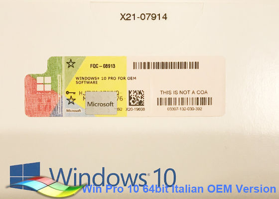 China Genuine Windows 10 Pro OEM Sticker 64bit Online Activate Pro Windows Sticker  factory
