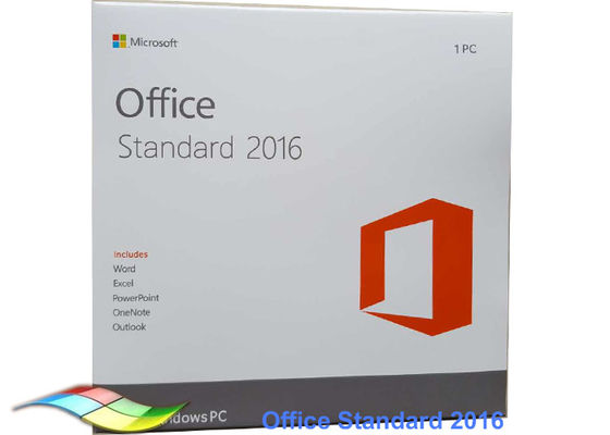 China Microsoft Office 2016 standard DVD retail pack Window Operating System For PC factory