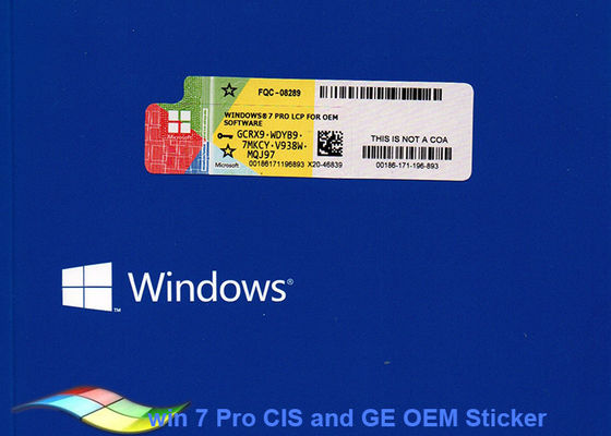 China Product Key Windows 7 Professional 64 Bit For Tablet PCs / Computer Product Key factory