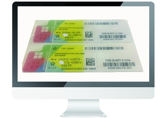 China OEM Genuine Windows 10 Pro COA Sticker Product Key Multi Language MS Certified factory