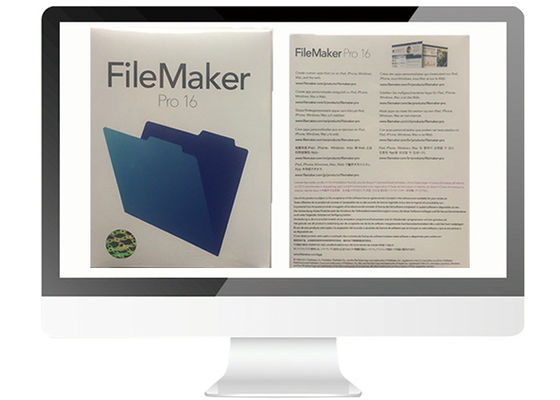 China Full Version Filemaker Pro For Mac / Win Retail Box V16 Online Activate factory