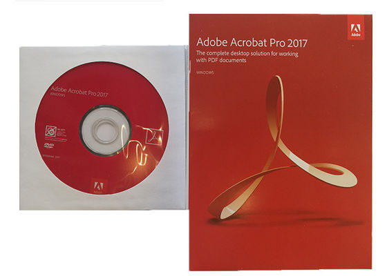 China Full Version Adobe Acrobat Pro 2017 100% Original Software 1 Year Warranty factory