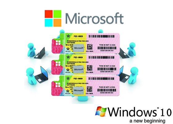 Multi Language Windows 10 Product Key Customizable FQC 64/32bit OS Full Version Windows 10 Pro License Sticker