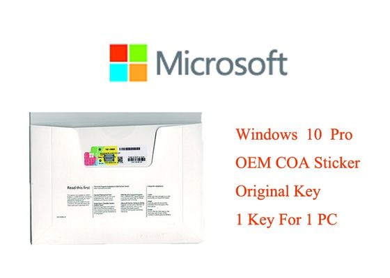 China Genuine Windows 10 Product Key 32bit Systems Full Version Software COA X20 Online Activation Brand New factory