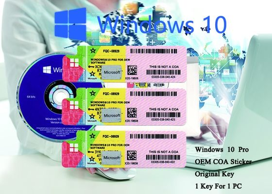 China 100% Authentic Windows 10 Pro COA Sticker  64 bit Systems Online Activate factory