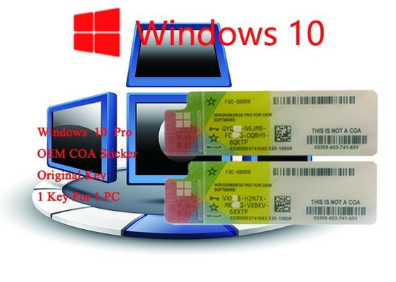 China 32bit Operating System 100% Authentic Win 10 Pro COA Sticker   Online Activate factory
