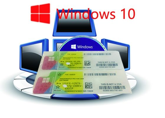 China 32bit Operating System 100% Authentic Windows 10 Pro COA Sticker Online Activate factory