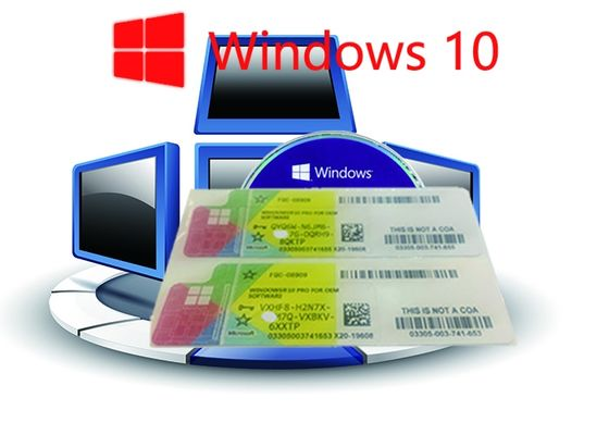 China 64bit / 32bit OS 100% Authentic Windows 10 Pro COA Sticker Online Activate factory