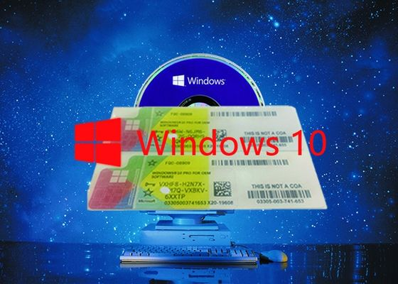 China Full Version Windows 10 Pro COA Sticker Working Serial Key Customizable FQC 64bit Systems factory