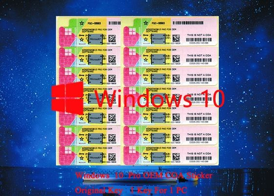 China Genuine Microsoft Windows 10 Pro COA Working Serial Sticker for PC Full version Multi Language factory
