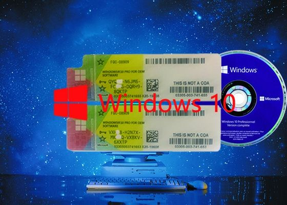 China Multi-language Win 10 pro COA License Sticker  64Bit OS 100% Original Working Serial Key factory