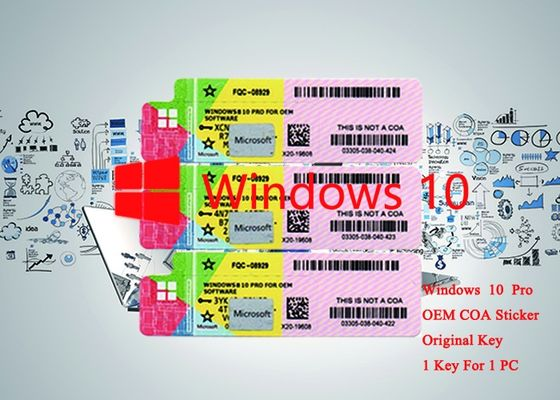 China 64bit / 32bit OS 100% Authentic Windows 10 Pro OEM Serial Sticker Online Activate factory