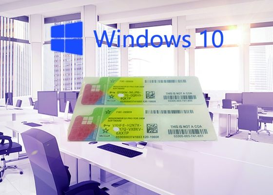 China 100% Original widnows 10 operating system COA sticker 64 Bit Activated by Internet factory