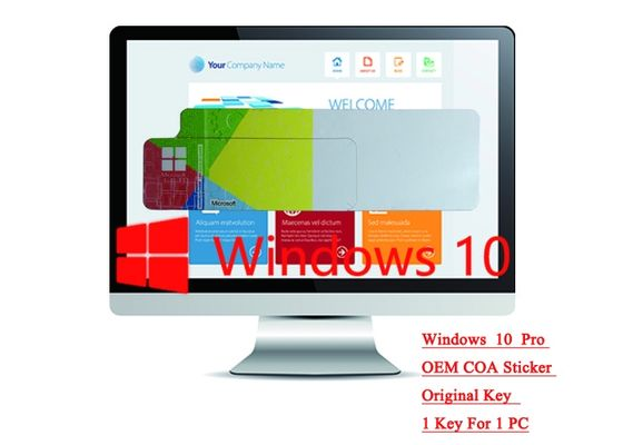 China 64bit / 32bit OS 100% Authentic Windows 10 Pro COA Sticker Online Activate Optional Language factory