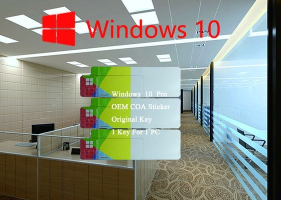 China Win 10 Pro COA Sticker 64bit License Online Activate Korean / Spanish Language factory